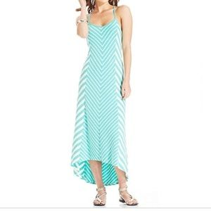 Jessica Simpson Starr Chevron Striped Maxi Dress